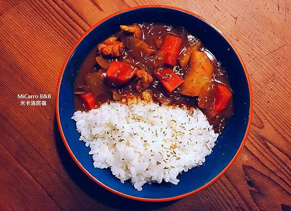 1541我愛吃咖哩~~~我愛吃加上在地柯林區生產的有機安農米的咖哩飯