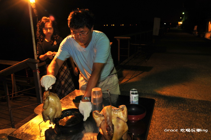 葛瑞絲去外澳海邊海灘風情後面烤肉