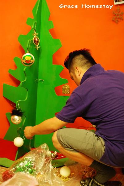 宜蘭葛瑞絲民宿的聖誕樹