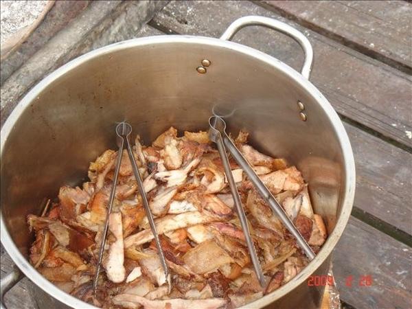 烤好切下的肉片