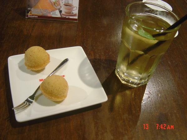 法式甜點+薄荷茶