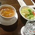 蔬菜燉湯+沙拉