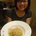黃金櫻花蝦義大利麵