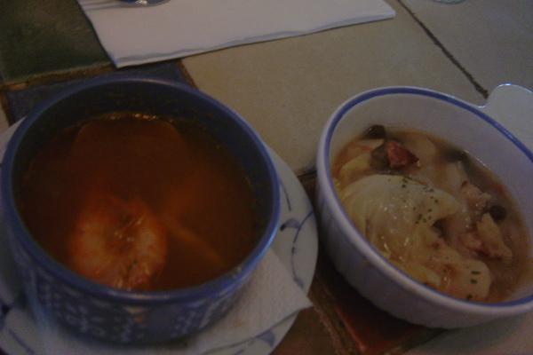 亞拉岡海鮮湯+培根及洋蔥果醋燉菜