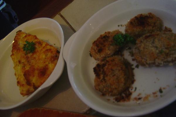 洋蔥及培根烘蛋佐起司+香烤鮮菇佐豬肉