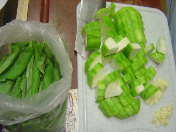 芥藍菜+絲瓜