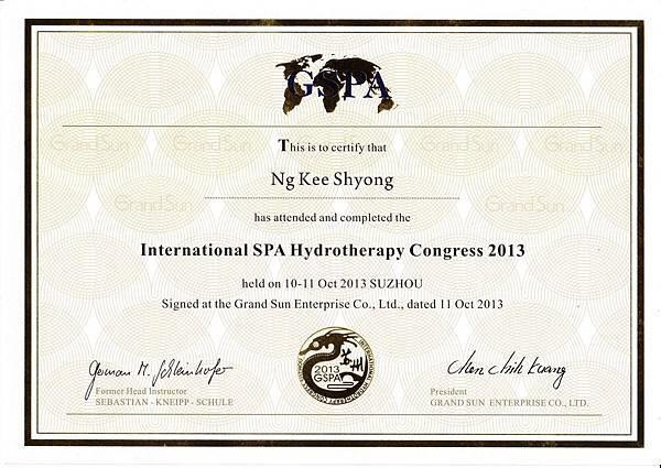 水療研討會2013蘇州