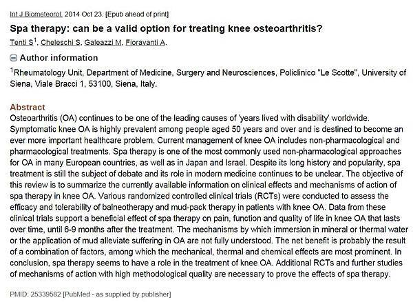 Spa therapy can be a valid option for treating knee osteoarthritis