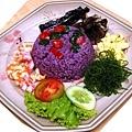 紫色地瓜飯