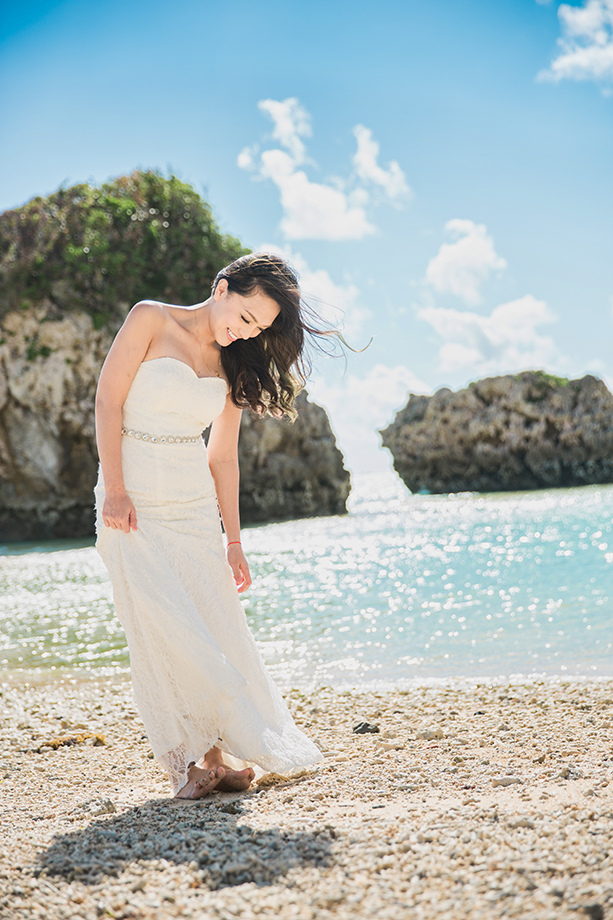Apr 21 Thu 2016 [自助婚紗][海外婚紗][沖繩婚紗]感謝新人麥麥+Sean推薦(羊吃草攝影)-海灘-1
