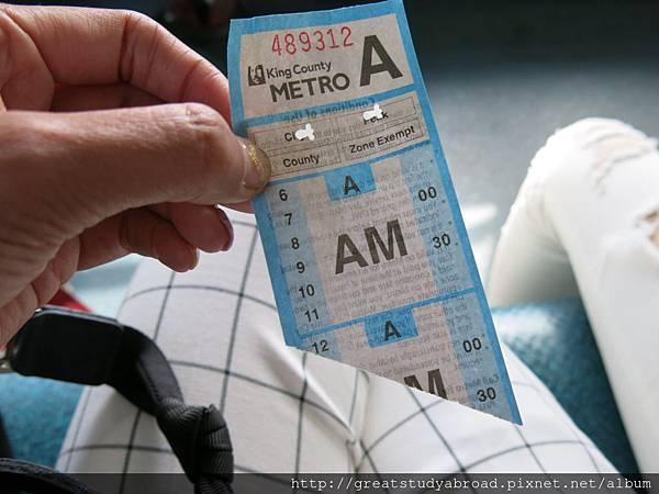 轉車車票(藍)