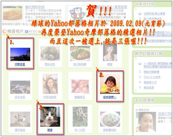 綠球的部落格再度榮登Yahoo奇摩部落格的精選相片_2009020901(宣傳).jpg
