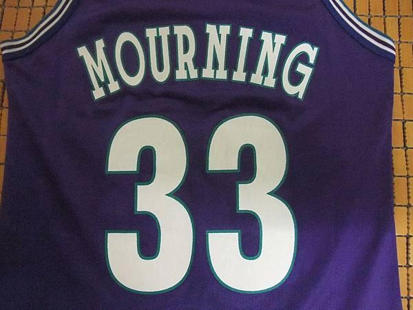 夏洛特黃蜂1994-95 Replica (Alternate)--33 Alonzo Mourning.JPG