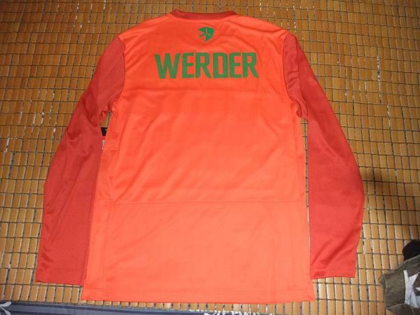 Werder Bremen 2011-12 球員版Pre-Match Training--背面.JPG