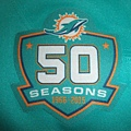 Miami Dolphins 201516 50th Anniversary -- 50周年Patch.JPG
