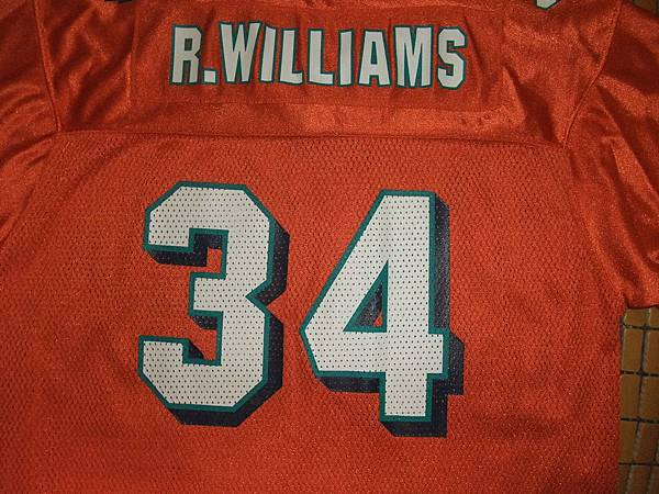 邁阿密海豚200211 Alternate Replica--34 Ricky Williams.JPG