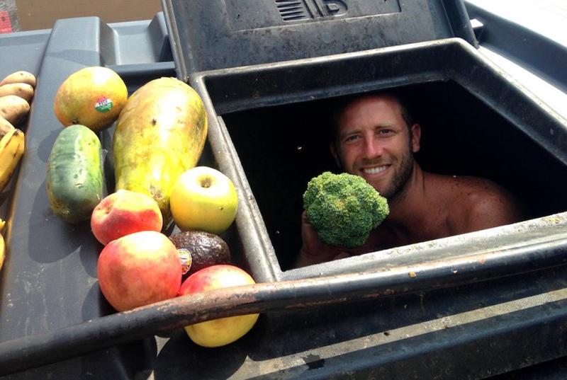 綠果報導,Jon Jandai,Dumpster Diving,垃圾桶尋寶,垃圾桶淺水,rescued food,Ted演講