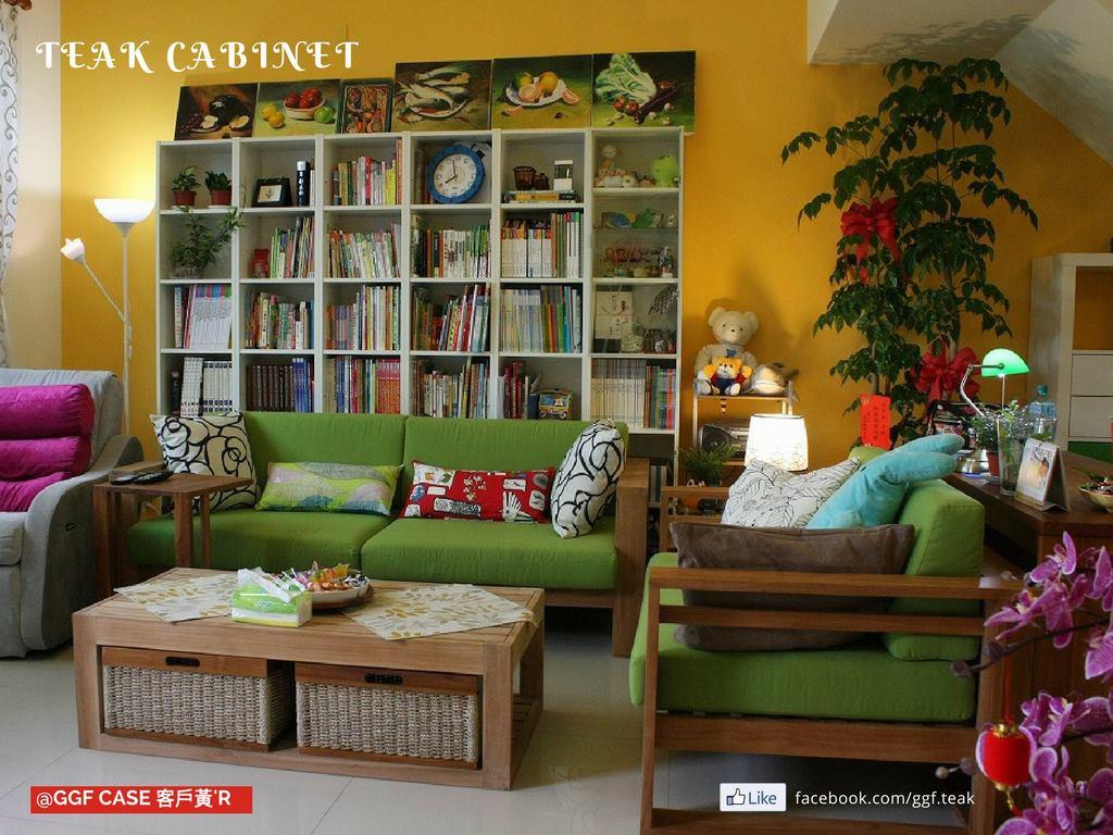 柚木沙發組布置