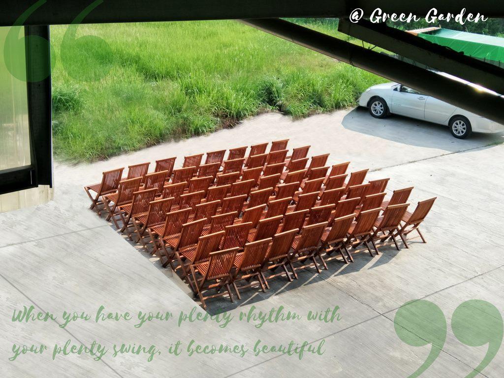 柚木折合餐椅