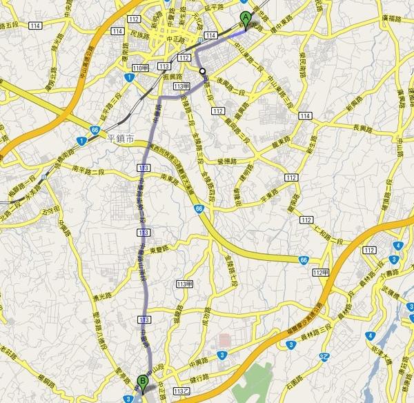 320桃園縣中壢市中北路200號 至 龍潭觀光大池 - Google 地圖.jpg