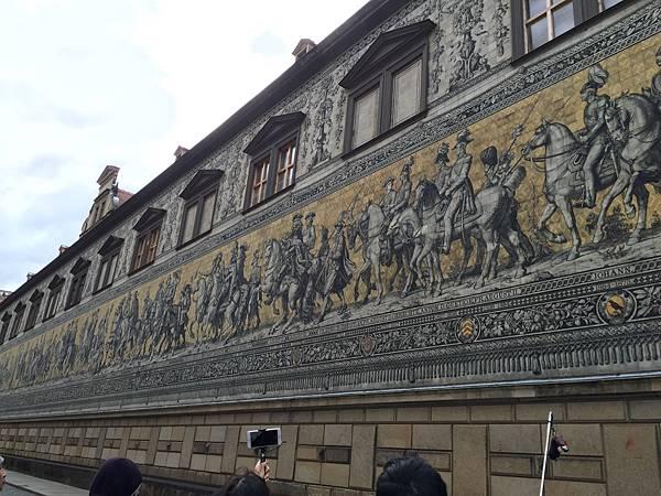 德國德勒斯登國王的行列壁畫