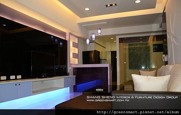 高雄室內設計-左營 京城四季 1客廳
