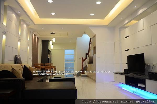高雄室內設計- 榮總透天--客廳1
