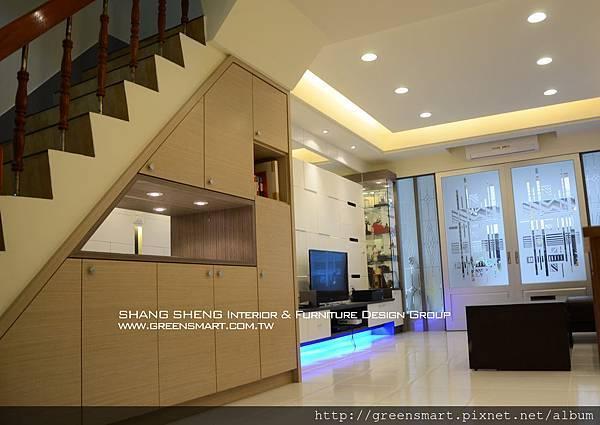 高雄室內設計- 榮總透天--客廳3