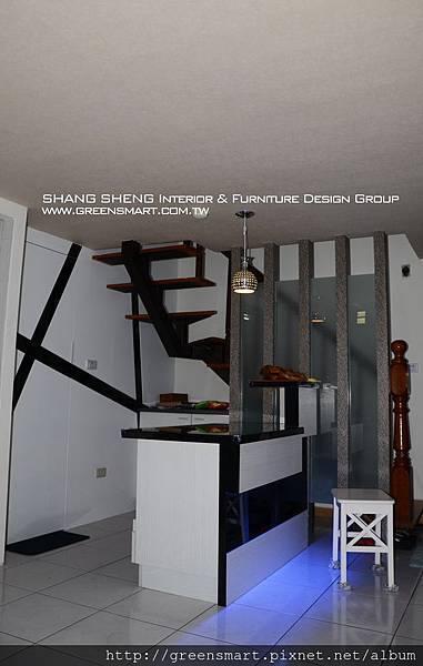 台南室內設計- 高岡屋大樓--吧檯1