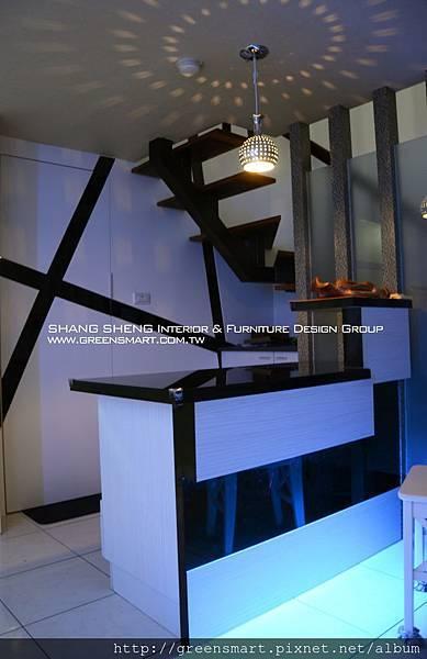 台南室內設計- 高岡屋大樓--吧檯2