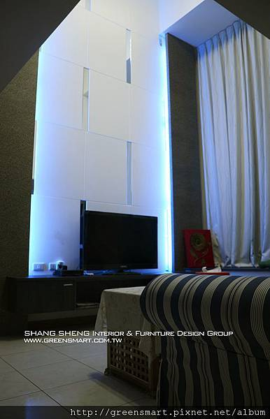 台南室內設計- 高岡屋大樓--客廳1