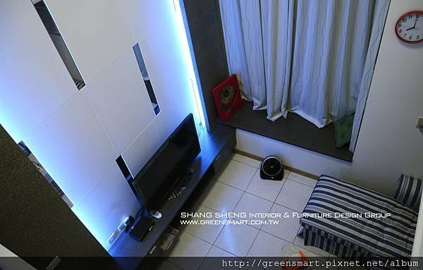 台南室內設計- 高岡屋大樓--客廳3