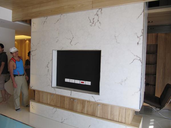樣品屋電視牆