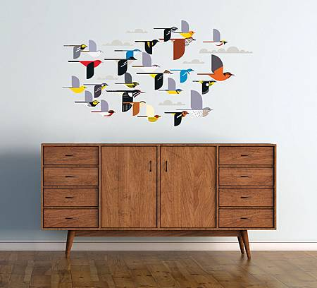 charley-harper-a-flock-of-birds-wall-d-eacute-cor-35