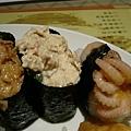 小章魚+鮪魚沙拉+干貝唇 壽司