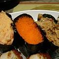 干貝唇+蝦卵+龍蝦沙拉 壽司