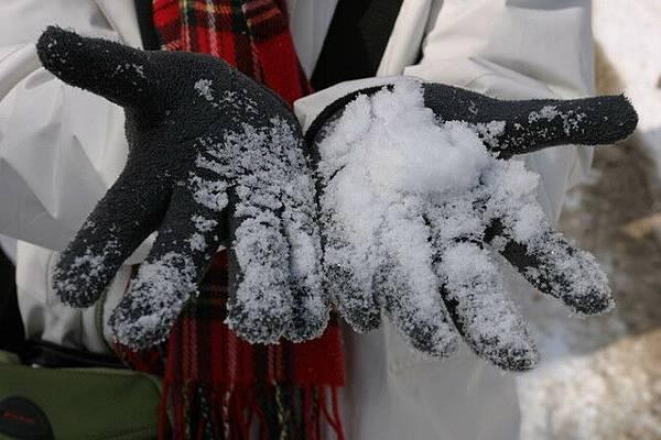 硫磺山上的雪