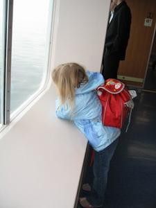 BC渡輪上的小女孩