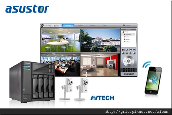 ASUSTOR adds AVTECH IP cam