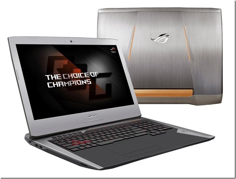 ROG G752開啟ROG電競筆電全新世代,外觀採鈦金屬色系裝甲風格搭配電漿銅色裝飾,更是全球首款將均熱板整合至冷卻系統的筆電