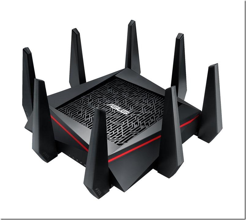 華碩全球最快三頻無線分享器RT-AC5300獲CES獎項肯定,雙4x4天線設計搭配頂尖NitroQAM技術,成就所向無敵疾速傳輸。