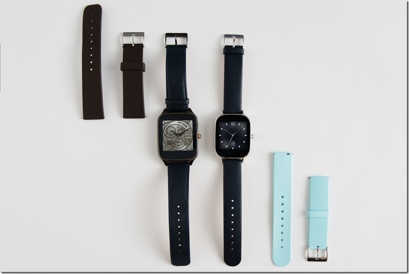 ASUS ZenWatch 2悠遊卡錶帶特別款即日起在台上市,推出「帥氣運動咖」(左)、「有氧清新藍」(右)兩種不同錶款供消費者選購