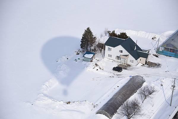 北海道網走熱氣球飛行俯瞰雪國大地