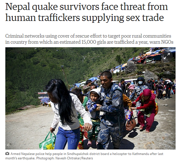 Nepal quake survivors face threat from human traffickers supplying sex trade World news The Guardian
