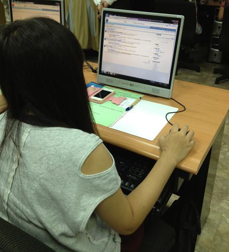 一人一機線上操作,讓學員更瞭解知識管理系統