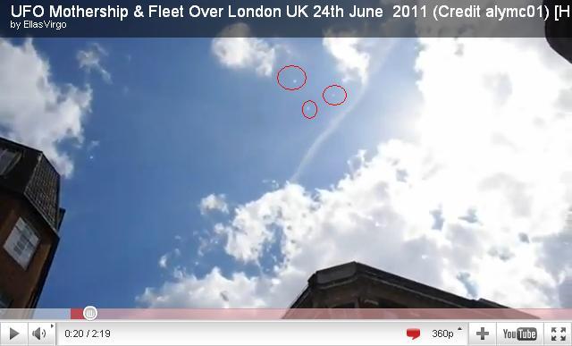 英國倫敦拍到UFO