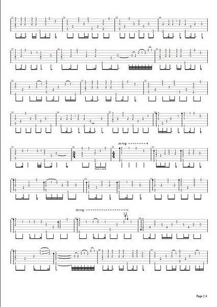 曹格_背叛_吉他譜 Page2