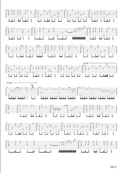 曹格_背叛_吉他譜 Page3