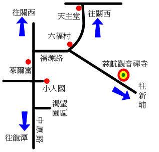 慈航寺地圖