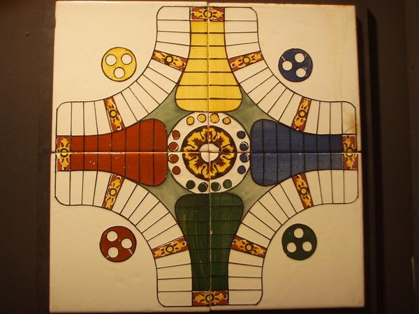 磁磚製的遊戲盤